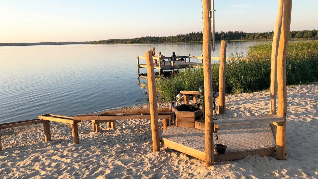Vandlegeplads på stranden ved Ans søbad