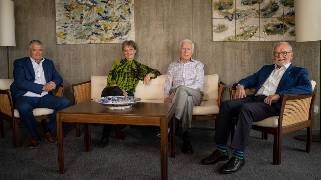 Fire tidligere borgmestre sidder sammen